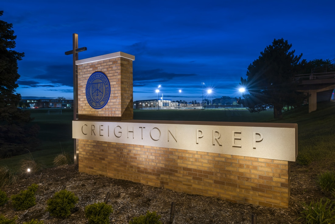 Creighton Prep Monument Sign